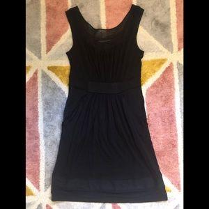 Little black dress with lace A line bcbg
